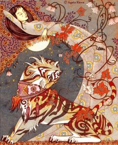 Illustration for Tigre le Dvou by Agata Kawa